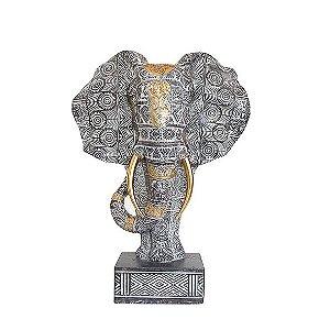 Busto Elefante Cinza - Médio