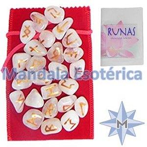 Kit de Runas Quartzos Rosa