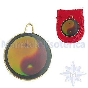 Pingente medalha 3D Yin Yang