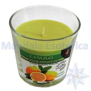 Vela Copo Importada Aroma Limão