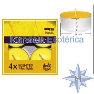 Vela Maxi Light Citronela com 4