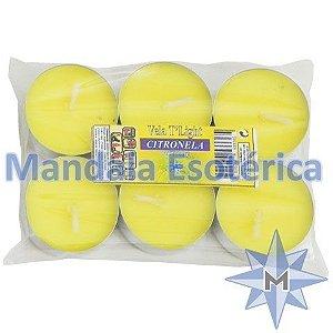 Vela TLight Aroma Citronela com 6 Unidades