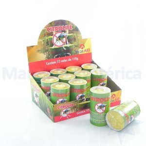 Display com 12 Velas de Citronela