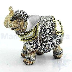 Elefante de Resina e Tecido
