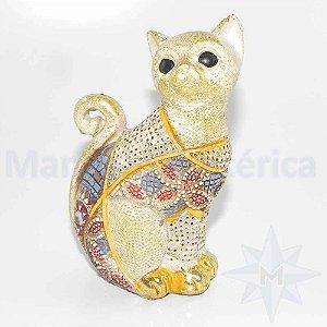 Gato Colorido em Resina B