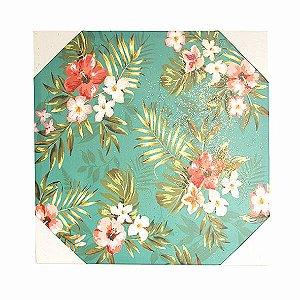 Quadro Decorativo Floral Modelos Variados 50x50 Cm