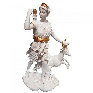 Ártemis com cervo - Diana Branca