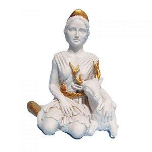 Deusa Ártemis Pequena - Diana Branca