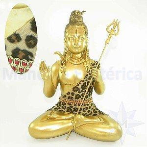 Shiva Dourado com Tecido