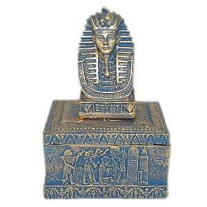 Porta Jóias de Tutankamon detalhes em azul