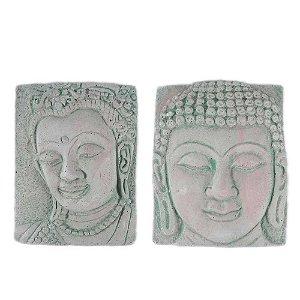 Par de Placas com a Face de Buda