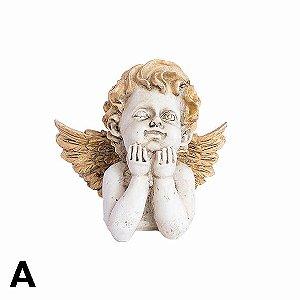 Anjo Branco e Dourado - Diversos Modelos