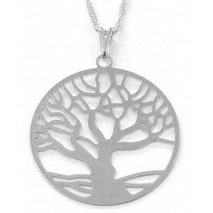 Gargantilha Árvore da Vida com Aro Banho de Ródio