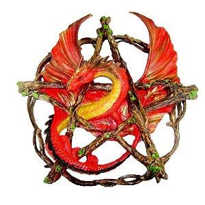 Dragão Vermelho no pentagrama