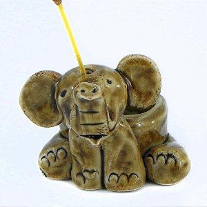 Incensário Elefantinho Cerâmica