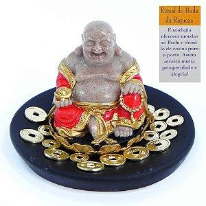 Buda Sorridente com Ritual da Riqueza G