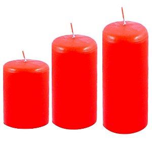 Kit com 3 velas decoração Vermelhas