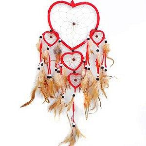 Filtro do Sonhos 5 corações vermelho