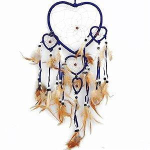 Filtro do Sonhos 5 corações Azul