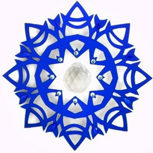 Móbile Azul com cristais e pendulo facetado