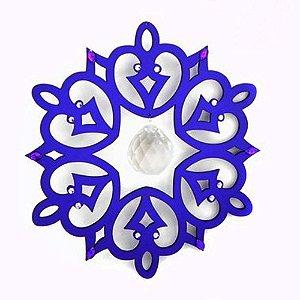 Móbile Lilas com cristais e pendulo facetado