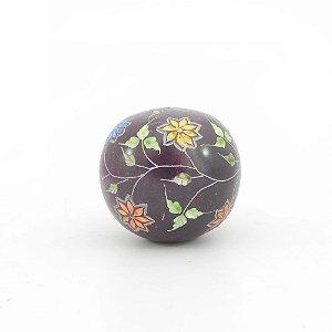 Peso Papel Bola pedra de sabão esculpida