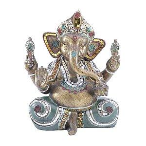 Ganesha de Resina com detalhes de pedraria