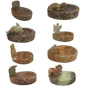 Incensário Oval em Pedra Sabão