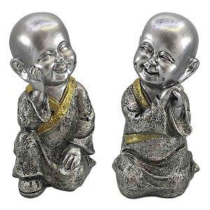 Monge  Mantra Prata com Detalhe Dourado