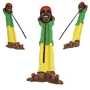 Incensário Bob Marley deitado - Colorido