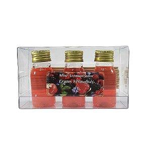 Mini Aromatizador com 3 - Frutas Vermelhas