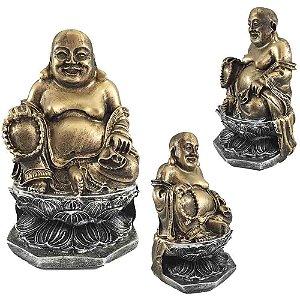 Buda Chinês na Flor de Lotus