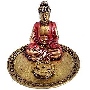 Incensário Redondo Buda Meditando