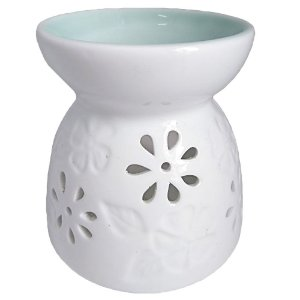 Rechô Flor e Folha de Cerâmica