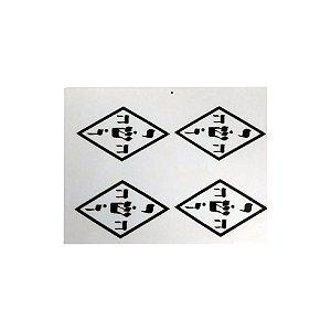 Adesivo Gráfico Yoshua pacote com 24