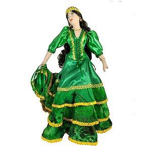 Cigana de Cerâmica com a roupa Verde