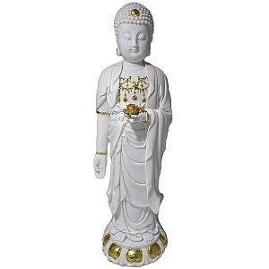 Buda em Resina Marmorizado