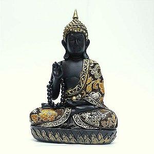 Estatueta Buda Tailandês com Japamala