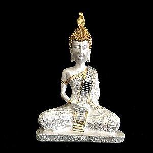 Buda Tibetano Pérola com Espelho Meditando