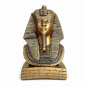 Busto Faraó Tutankhamon Dourado