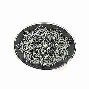 Incensário Mandala de Vidro - Diversas Cores