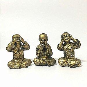 Trio de Budas Não Ouve, Não Fala, Não vê - M