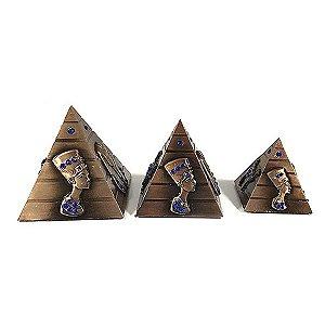 Trio Pirâmide Egípcia com Strass