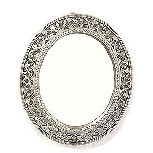 Espelho Oval Moldura Vitoriana