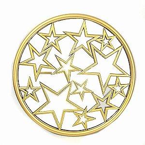 Espelho Estrelas Dourado