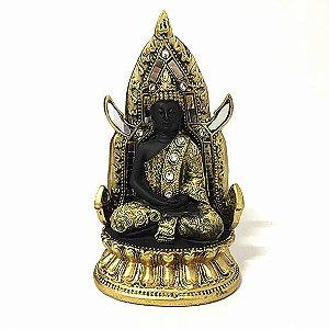 Buda Tibetano Meditando Trono - P