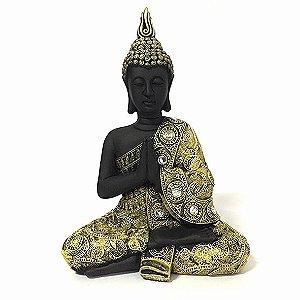 Estatueta Buda Tibetano Meditando - G