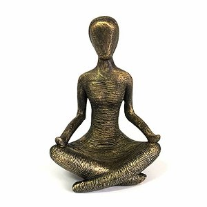 Estatueta Posição Yoga Meditação