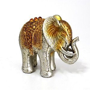 Elefante Prata e Amarelo - P