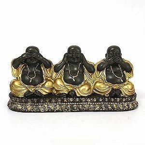 Trio de Budas Não Vê, Não Ouve, Não Fala